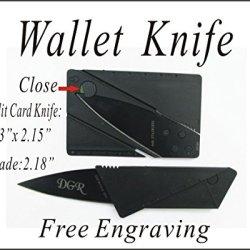1 Groomsmen Gift - Personalized Custom Engraved Pocket Wallet Knife Recsue Knife-Kabk
