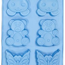 Soap Molds - Le Juvo Silicone Mold- Rabbits, Bears, And Butterflies - Blue