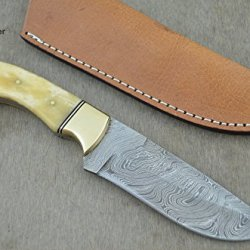 "Christmas Gift By Leather-N-Dagger | Professional High Quality Custom Handmade Damascus Steel Model-Year 2015 9.25"" Hunting Knife (100% Satisfaction Guaranteed) Great Gift Ld202"
