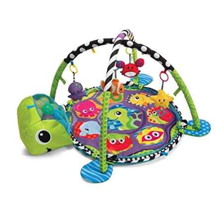 Grow With Me Activity Gym & Ball Pit Babies will have a ball with this action-packed activity gym. Four adorable sea pals and pop-up mesh sides entertain and surround little movers and shakers. This one-of-a-kind gym also converts into a fun sens...