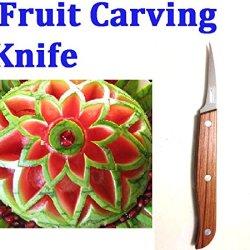 Thailand Thai Peeler Fruit Vegetable Carving Knife Blade Culinary Art Tool.