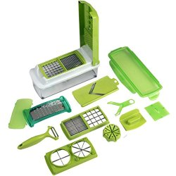 Evelots 11 Piece Multi Chopper Vegetable Cutting Dicing Slicing Kitchen Gadget