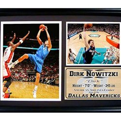 Nba Dallas Mavericks 12X18 Framed Dirk Nowitzki Print