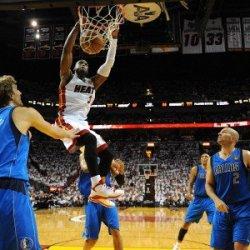 Dallas Mavericks V Miami Heat - Game Two, Miami, Fl - June 02: Dwyane Wade, Dirk Nowitzki And Jason Photographic Poster Print, 18X24