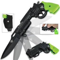 Z-Slayer Revolver Folding Knife Green Assisted-Open