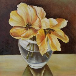 Knife Painting Collect Unframed Painting On Canvas Palette Knife Flower 12X12 In/30X30Cm