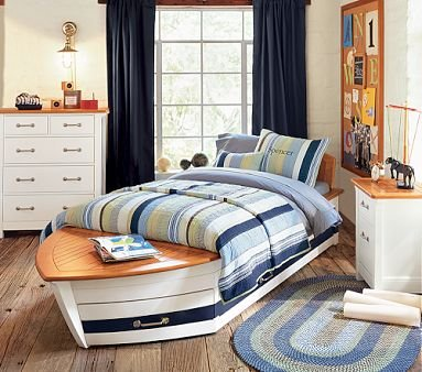 Image of Pottery Barn Kids Speedboat Bedroom Set (B001HCQ75C)