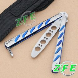 1Pc High Quality Butterfly Knife Training Comb Knife Trainer With Nylon Scabbard
