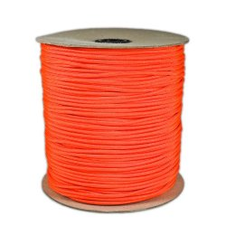 1000' Foot Spool Neon Orange Parachute Cord 7-Strand Core 550 Cord