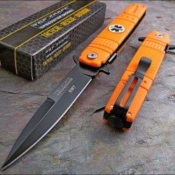 Tac Force Orange Emt Ems Rescue Pocket Knife
