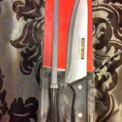 2 Pc Chef Knife & Sharpener