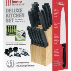 Home Basics 41-Piece Knife Set With Block