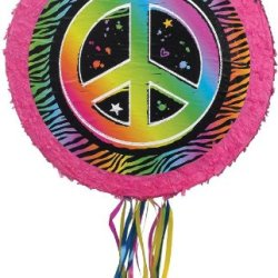 Neon Peace Sign Pinata