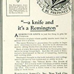 1924 Ad Remington Rs 3333 Pocket Knife Howard L Burr Boy Scouts America Troop 1 - Original Print Ad