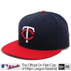 Minnesota Twins Mlb Authentic Baseball Cap 7-3/8 Osfa - Like New