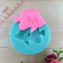 Silicone Fish Shape Cake Mold Fondant Soap Mould