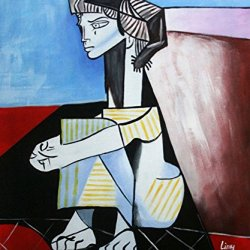 "Picasso _ Jaklin'S Birth_Oil Painting On Canvas 20X24"" Abstract Modern Wall Canvas Art Repro"