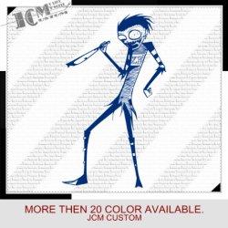 "Johnny The Homicidal Maniac Knives - Vinyl Decal Sticker / 36"" X 21.6"" (09 King Blue, Vinyl Type - Permanent - Auto)"