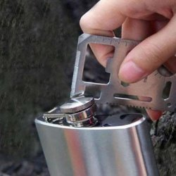 N5 11 In 1 Emergency Survival Card Multi-Purpose Tool (Silver)