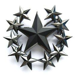 Hogar Mens Zinic Alloy Belt Buckle Pentagram Star Buckles Color Black
