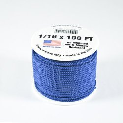 "Micro Paracord 1/16"" (2Mm) 85Lb Tensile Strength 100 Foot Spools"