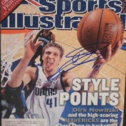 Dirk Nowitzki Autographed Sports Illustrated Magazine (Dallas Mavericks)
