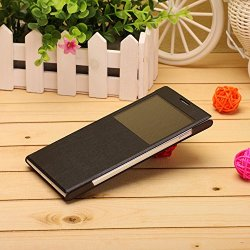 Tpu+ Pu Leather Case Cover For Doogee Dg550 Smart Cell Phone(Black)