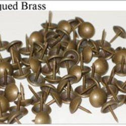 "1/4"" Antiqued Brass Tacks - High Dome 100 Pkg"