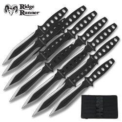 Ridge Runner 12 Piece Tornado Throwing Knives