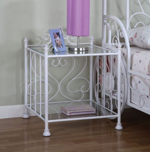 Image of Kids Princess Emily Nightstand in Antique Hand Washed White Finish (AZ00-46922x20155)