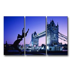3 Piece Wall Art Painting London Tower Bridge Uk Pictures Prints On Canvas City The Picture Decor Oil For Home Modern Decoration Print