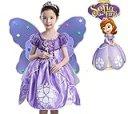 ディズニー ちいさなプリンセスソフィア かわいいドレス子供 誕生日プレゼント クラウン+魔法の棒+翼 (120)