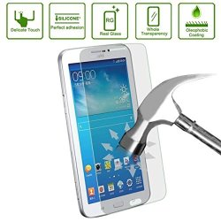 Encore Samsung Galaxy Tab 3 7.0 Premium Ballistic Glass Screen Protector - Protect Your Screen From Scratches And Drops - Maximize Your Resale Value - 99.99% Clarity And Touchscreen Accuracy