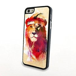 Generic Phone Accessories Matte Hard Plastic Phone Cases Cartoon Animal Lion Fit For Iphone 5/5S