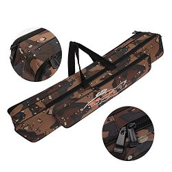 Portable Waterproof Double-Layer Camo Fishing Rod Carrier Fishing Pole Tools Storage Bag Organizer Tube Case 120Cm