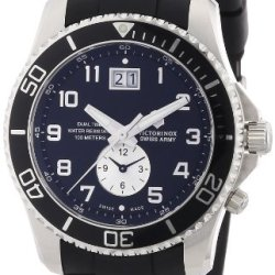 Victorinox Swiss Army Men'S 241440 Maverick Gs Dual Time Black Double Date Dial Watch