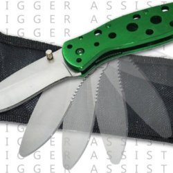 "Pa0113A-Gn 7.5 Inch Mb9Ykdozfh ""Shredder"" R71Vxrxz7 Trigger Assisted Knife Folding Knife Edge Sharp Steel Ytkbio Tikos567 Bgf Experience A Knife That Will Put Regular Assisted Knives To Aejqqteqw Shame. This Knife Features A Stainless Steel Handle With Ho"