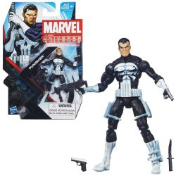 Hasbro Year 2013 Series 5 Marvel Universe Single Pack 4 Inch Tall Action Figure #15 - Punisher With 2 Guns, Submachine Gun And Commando Knife