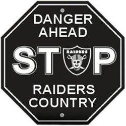 Danger Ahead Stop Sign - Oakland Raiders