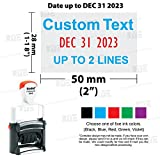 Trodat 5440 # Professional Date Stamp with 4 Lines Customization Text of 2 Color Text