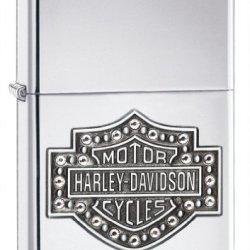 Zippo H-D Bar And Shield Crystals Pocket Lighter