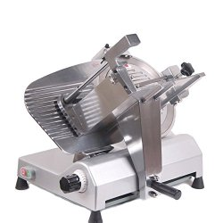 """Itoolplus Electric Meat Slicer 12"""" 270W Food Slicing Kitchen Stainless Steel Kitchen Cutter Hand Crank Fir For Home And Commercial Used"""