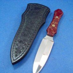 A Custom Made Boot Knife And Custom Sheath.