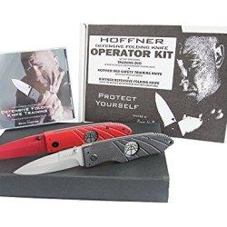 Hoffner Knives Operator Kit Dvd/Smooth Edge/Red Knife