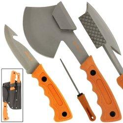 Zombie Killer Bio-Hazard Themed Orange Field Dressing Kit Free Sheath