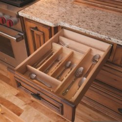 "Century Components Ttkf14Pf Wood Silverware Tray Drawer Organizer, 13-7/8"" X 22"" Trimmable"