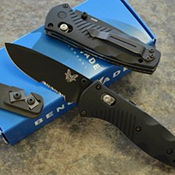 Benchmade 585Sbk Mini Barrage Assisted Opening Knife With Free Benchmade Sharpener