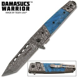New Sale Ao Fancy Turquoise Damascus Knife Tf704Bl