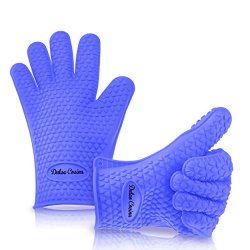 Silicone Grill Gloves - Blue, Med-Large - Wedding Registry Gift Idea!