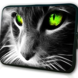 "Clever Cat Pattern 13.3"" Inch Laptop Computer Briefcases Rainproof Handle Bag Sleeve Case For Macbook Air Macbook Pro Retina Pro"
